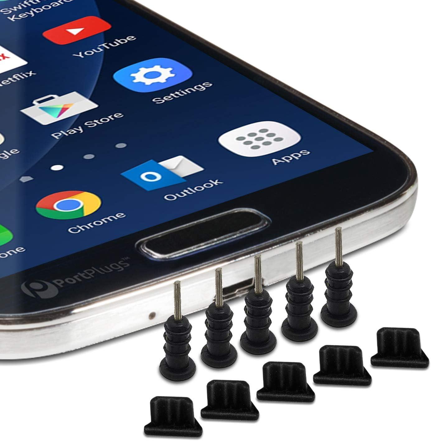 ULTECHNOVO 2pcs Silicone Anti-dust Plug Set Headphone Jack Cell Phone Dust Plug Micro USB Charging Port and Earphone Jack Anti Dust Pluggy Caps