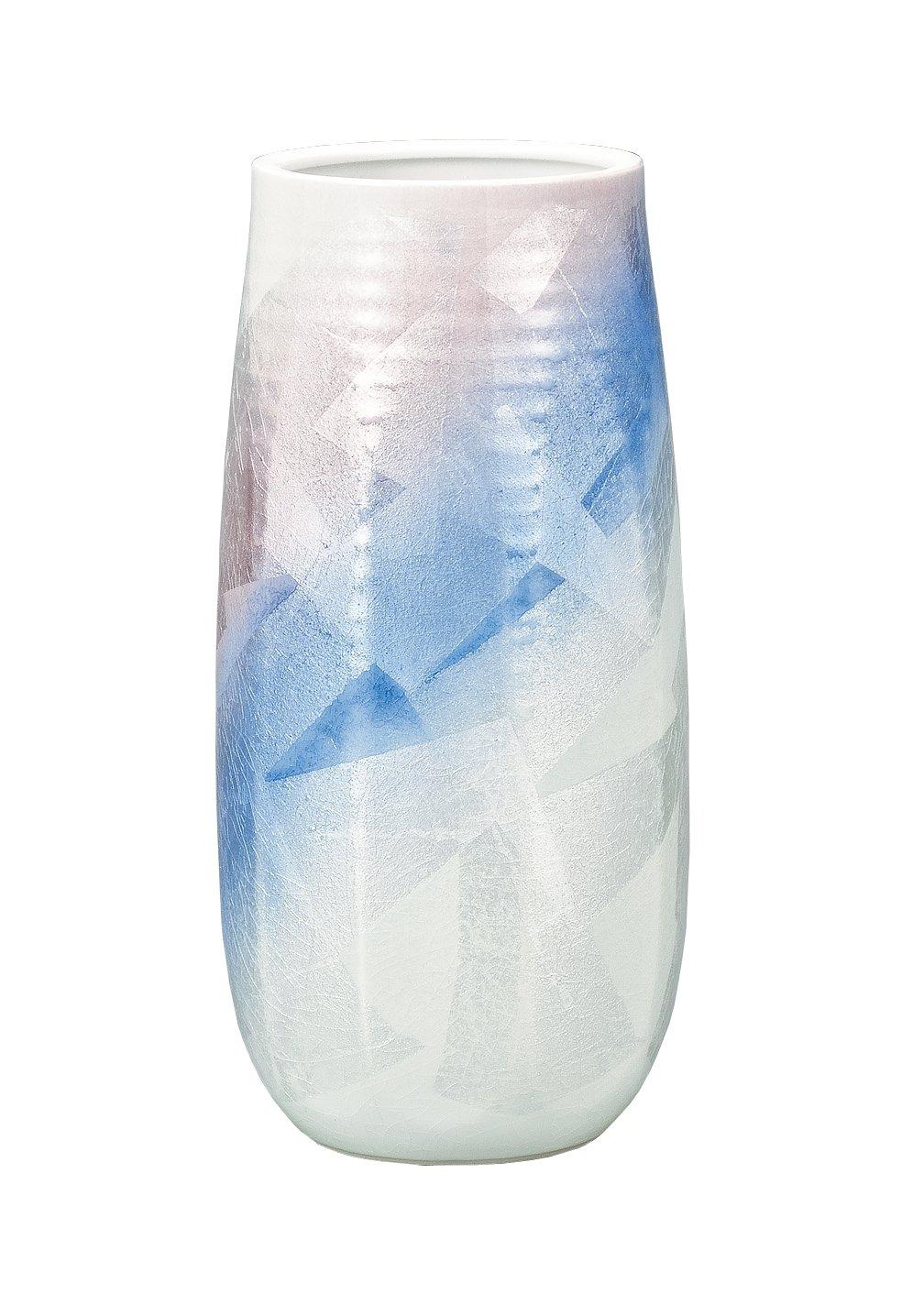 マルサン宮本 九谷焼 花器 8.5号花瓶 銀彩ひびき AP3-1027 B01HXQN726