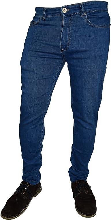 Westace Pantalones Vaqueros Ajustados Para Hombre Super Elasticos Ajustados De Algodon Y Elastano Amazon Es Ropa Y Accesorios