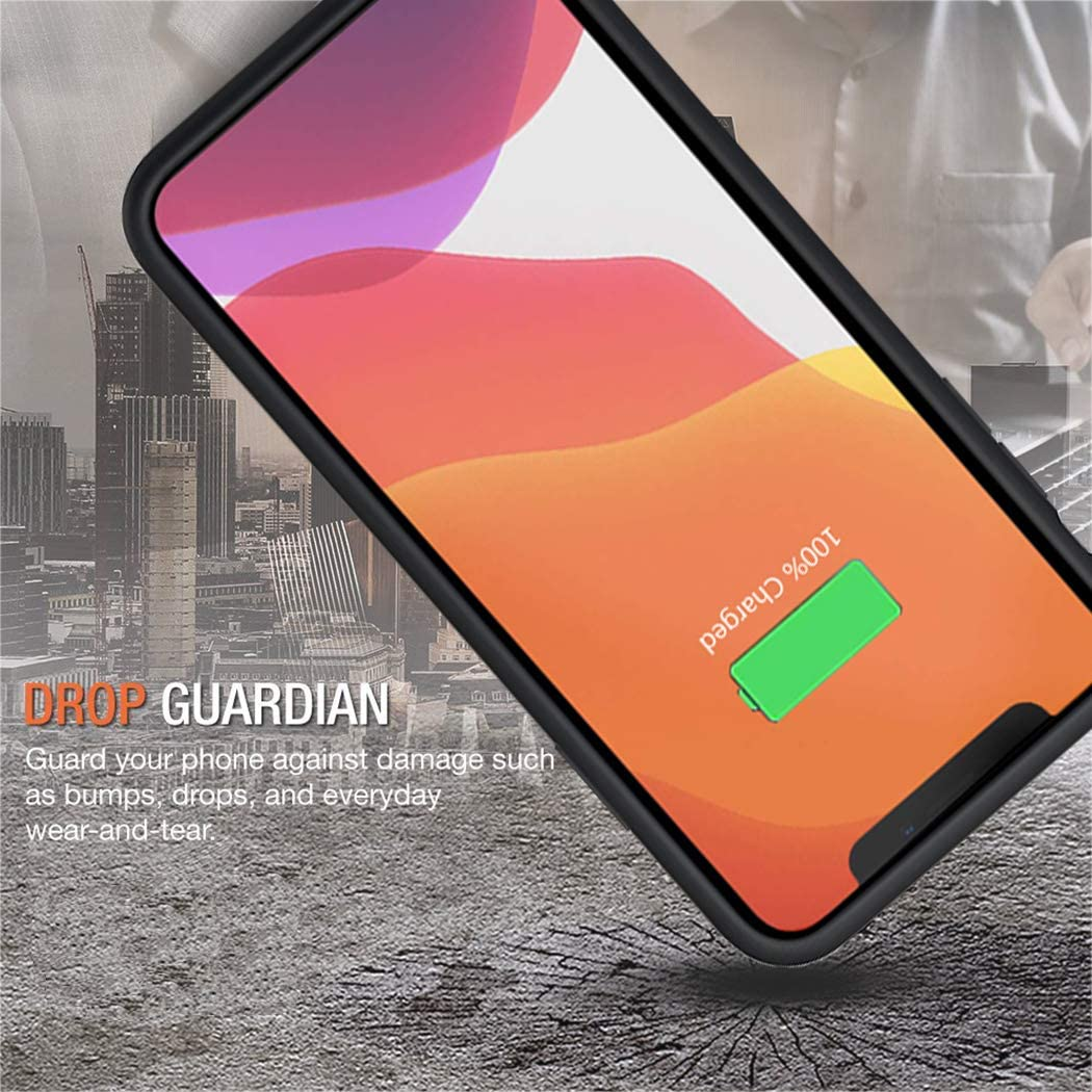 6500mAh Portable Protective Charging Case Compatible with iPhone 11 Pro Max Rechargeable Extended Battery Charger Case Black Battery Case for iPhone 11 Pro Max 6.5 inch