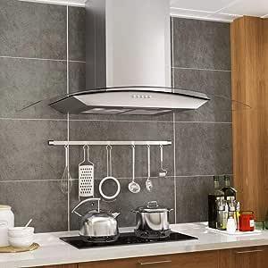 Zora Walter Campana extractora de Pared 90 cm Acero Inoxidable 756 m³/h LED Electrodomésticos de Cocina 3 Niveles de Velocidad: Amazon.es: Hogar