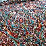 NEWLAKE Cotton Bedspread Quilt Sets-Reversible