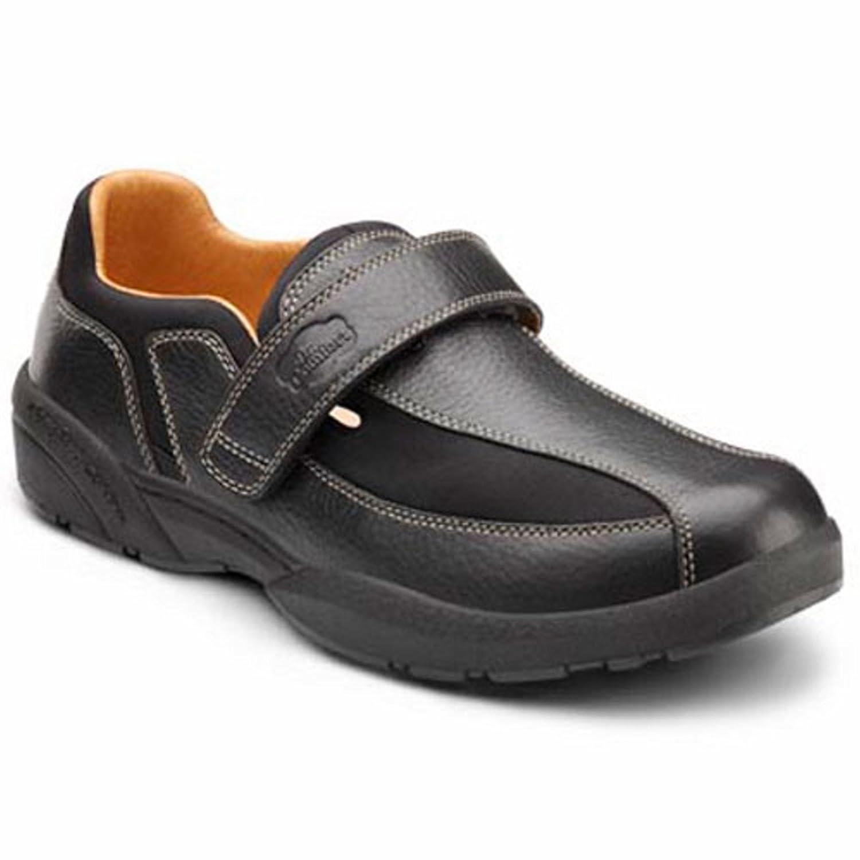 Dr. Comfort Douglas Mens Casual Shoe 11.0 Wide (E/2E) Black Velcro US Men|Black