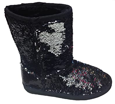 6b18a250dbd Classic Sparkles Double Shade Sequins Midnight Sequin Boots