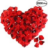 ETEREAUTY Rose Petals for Valentine's Day and Wedding Decoration Romantic Partys 2000 Pcs Dark Red