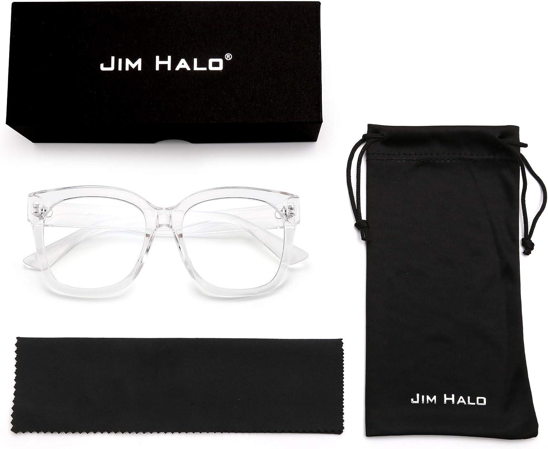 JIM HALO Occhiali per Computer Quadrati Oversize Blocco della Luce Blu per Donna Ridurre Affaticamento degli Occhi