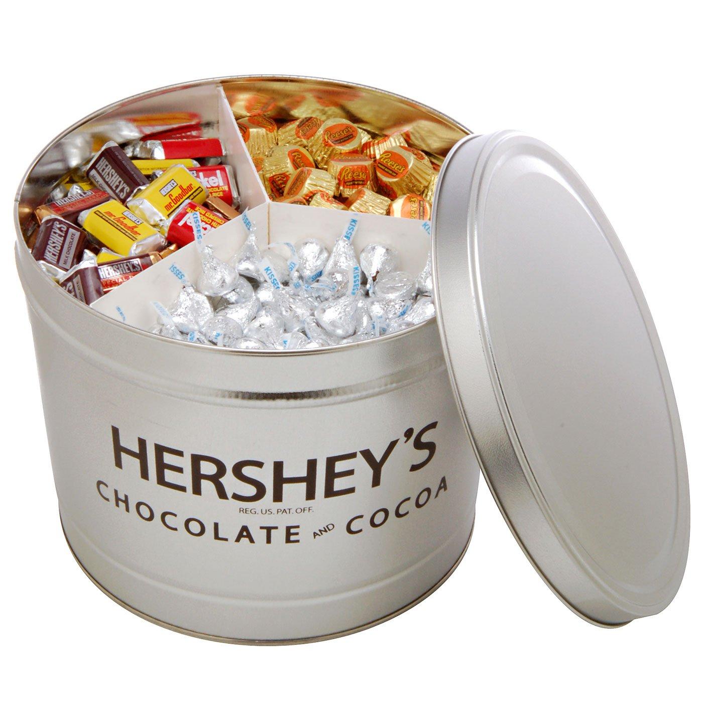 Amazon.com : Hershey's Miniatures Assortment Gift Tin, 11-Pound ...