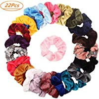 20Pcs Hair Scrunchies Velvet Elastic Hair Bands Scrunchy Hair Ties Ropes Scrunchie for Women or Girls Hair Accessories - 20 Assorted Colors Scrunchies