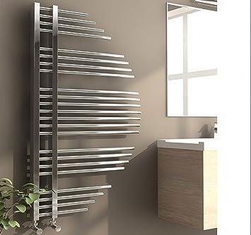 Beoblu Dicle Badheizkörper Heizkörper Design Handtuchwärmer Badezimmer  Heizung (Chrom, 680x120 cm)