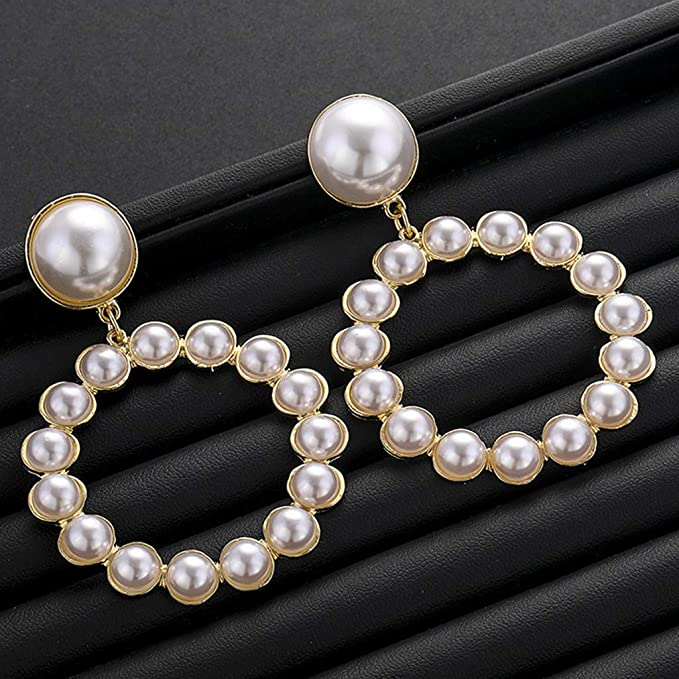 TianranRT☆ Pendientes de Mujer,Joyas de Plata Con Perlas ...