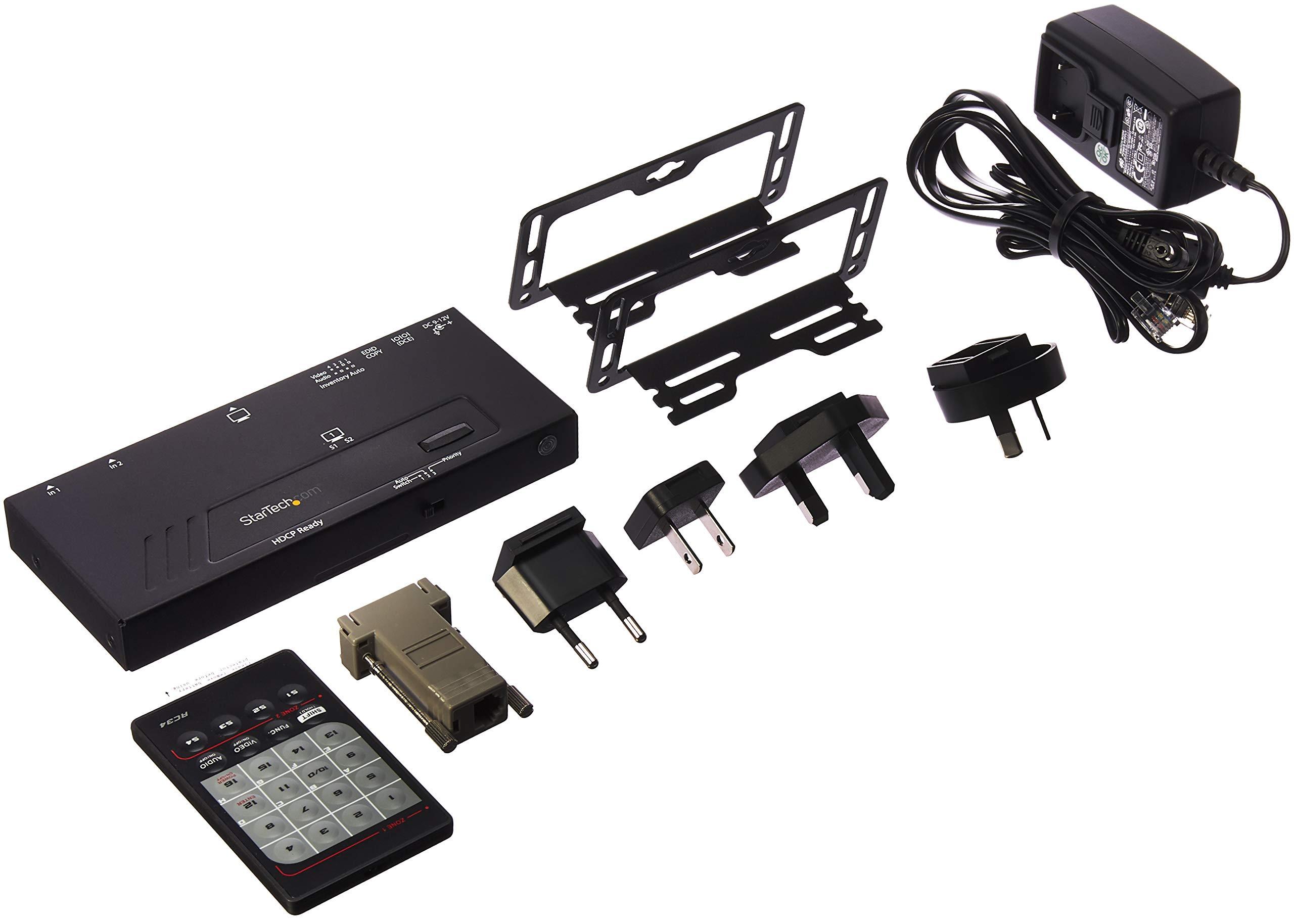 StarTech com 2-Port HDMI Automatic Video Switch - 4K 2x1