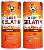 Great Lakes Gelatin, Certified Paleo Friendly, Collagen Protein, Pasture-Raised, Grass-Fed, Non-GMO, Kosher, Beef…