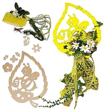 Komplettset Bastelset Holz Fensterbild Deko Bienen Mit Blumen