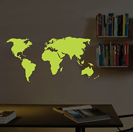Abcuv wall decal glow in the dark world map stickers 22 x 39 inches abcuv wall decal glow in the dark world map stickers 22 x 39 inches 54 gumiabroncs Image collections