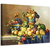 Fruit Artwork Vintage Picture Print: Fresh Vegetables and Fruit Art on Canvas for kitchen (36''W x 24''H,Multi-Sized)