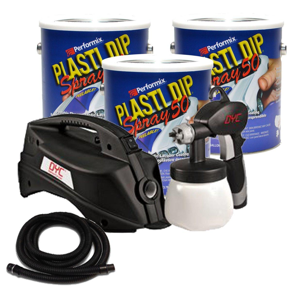 Bundle - 4 Pieces - Plasti Dip Low VOC 3 Gallon Basic Car Kit - Black (California Legal)