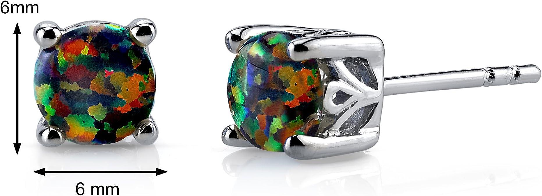 Pretty Arco Iris Collar Chapado En Plata Joya faceta faceta