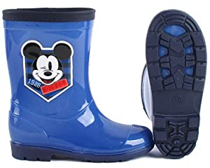 Disney Mickey Mouse Blue Jean Rainboot 8 M US Toddler