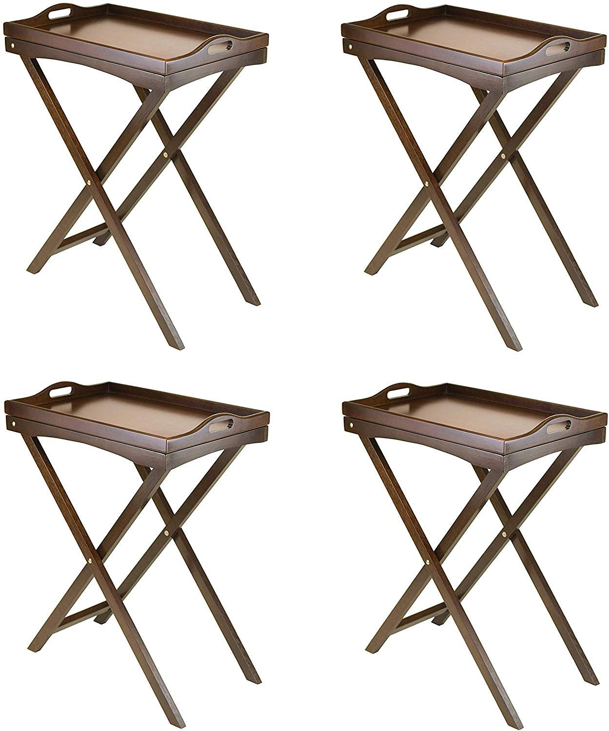 Winsome Wood Devon Butler TV Table with Serving Tray (Pack of 4) by Winsome Wood