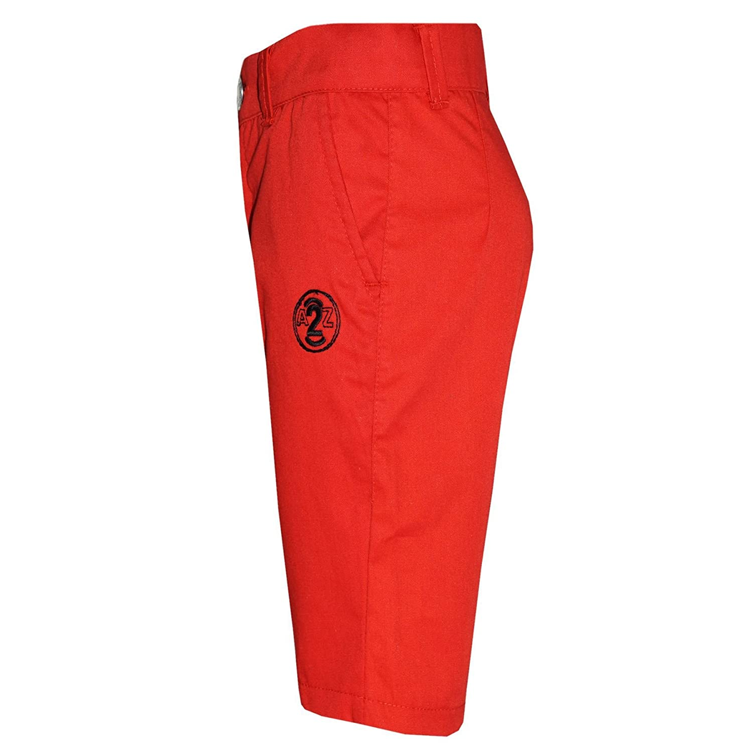 A2Z 4 Kids/® Boys Summer Shorts Kids Cotton Red Chino Shorts Knee Length Half Pant New Age 2 3 4 5 6 7 8 9 10 11 12 13 Years