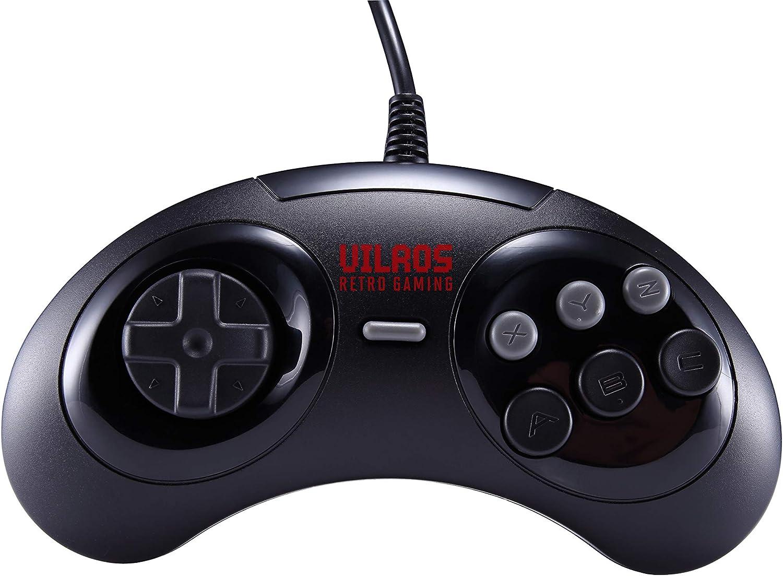 Vilros Retro Gaming SEGA Genesis Style USB Gamepads-Set of 2
