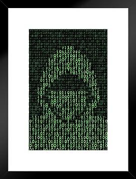 Amazon.com: Laminated Computer Hacker on Binary Code ...