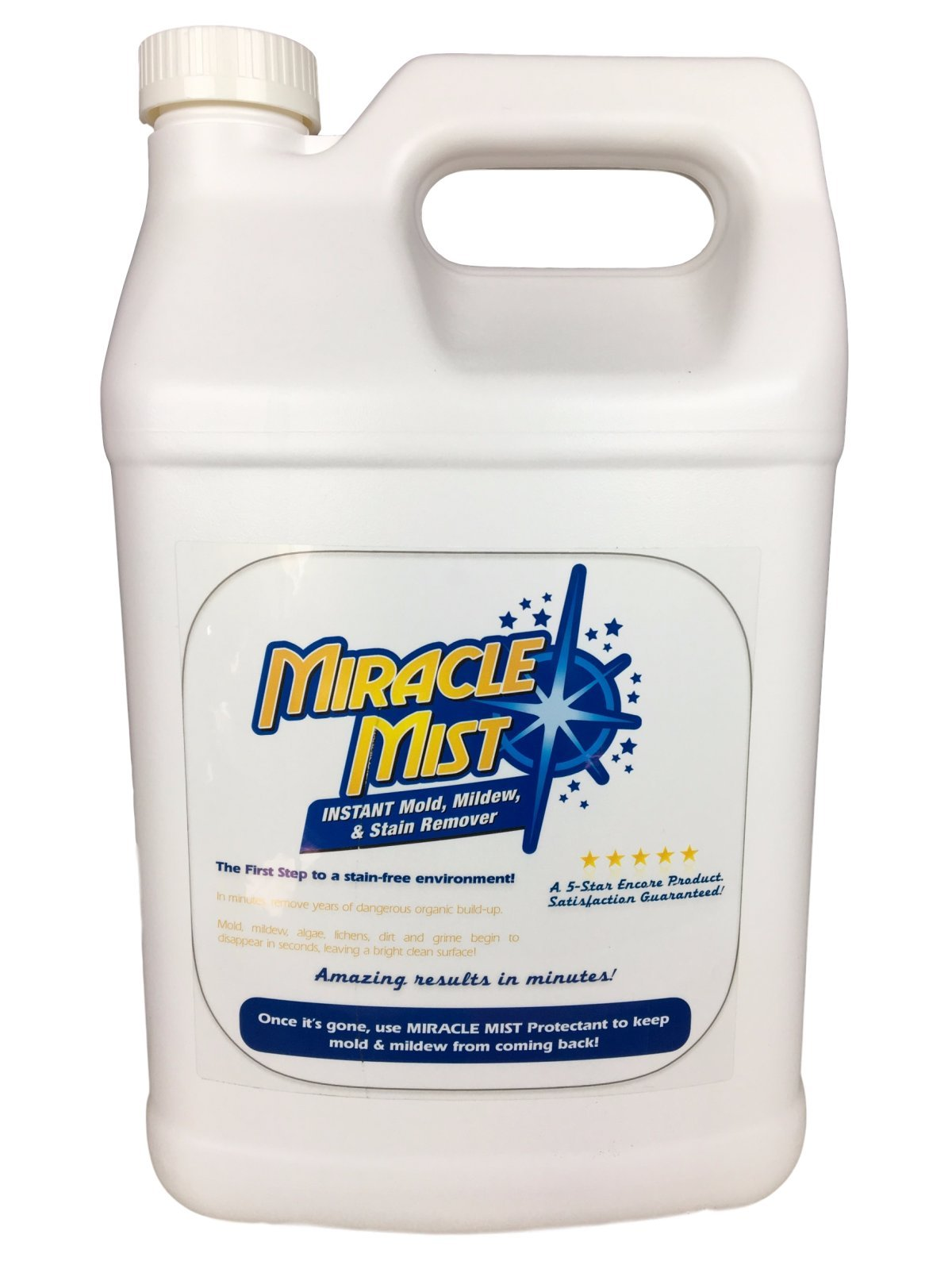 Miracle Mist Instant Mold & Mildew Stain Remover for Wood, Decks, Showers, Tile Hard Surfaces - 1 GALLON
