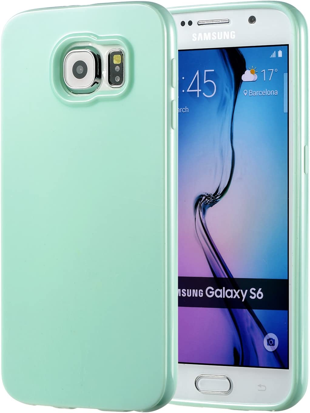 technext020 Galaxy S6 Mint Case, Galaxy S6 Case Silicone Protective Back Cover Slim Fit Samsung Galaxy S6 Bumper