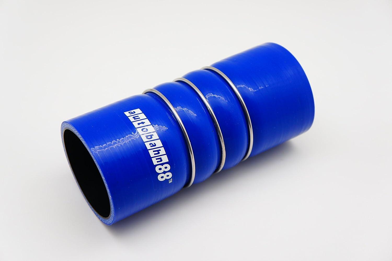 longitud de 4,72 autobahn88 Manguera de silicona automotriz universal con refuerzo de acero inoxidable anillo 4-Ply acoplador doble joroba 5mm azul 76mm grueso de pared 0,2 ID 3 120mm