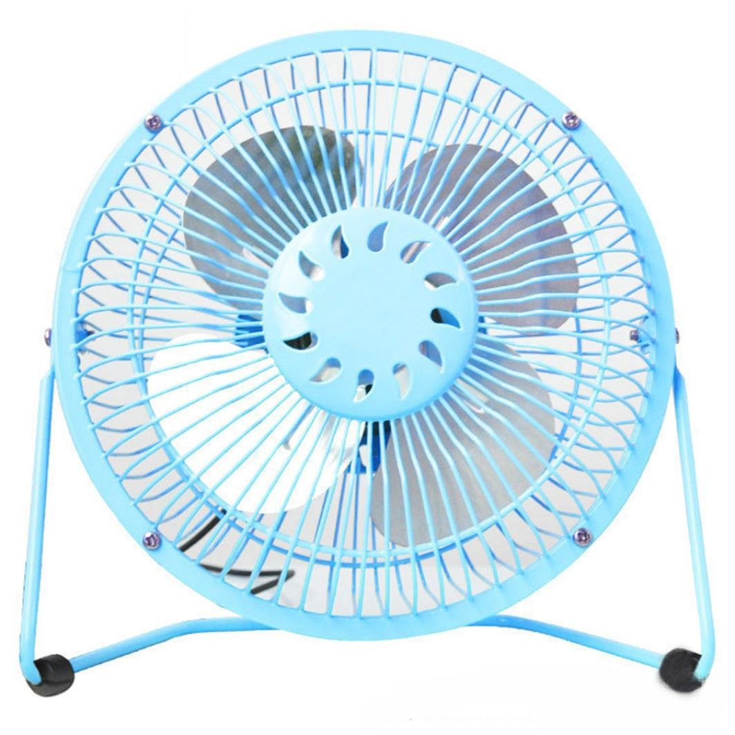 Hunpta@ Mini Fan, MINI USB Powered Desktop Cooling Fan Computer Laptop Quiet Low Power Consumption (Sky Blue)