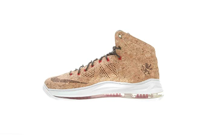 buy online 181e5 f5c51 Amazon.com   Lebron X Ext Cork QS Men s Basketball Shoes Classic Brown University  Red Hazelnut   Shoes