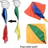 Magic Silk Scarf 1 Piece Change Color for Magic Trick Streets Toys