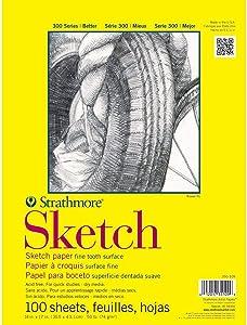 Strathmore (350-14 300 Series Sketch Pad, 14x17, White, 100 Sheets