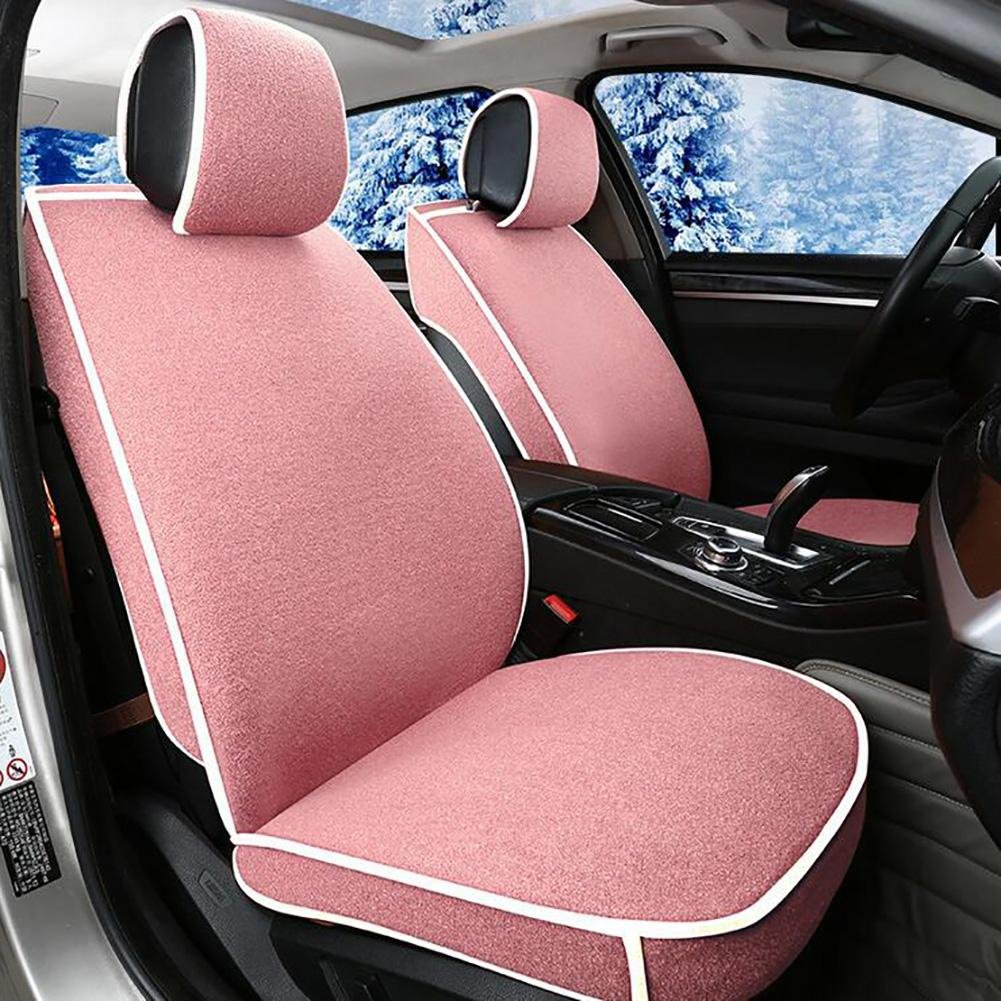 Auto Accessories Flax Car Seat Cushion Seat Cover Seat Four Seasons General Surrounded by A Five Seat-Beige, Pink, A