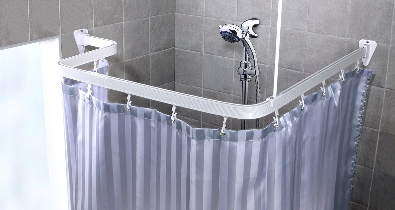 Chrome Bendi Track - Hand bendable shower curtain rail- Full Kit ...