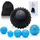 """OBETOR Massage Ball Set for Deep Tissue Muscle Knots, Trigger Point Physical Therapy, Myofascial Release, 5"""" Textured Mobilit"""