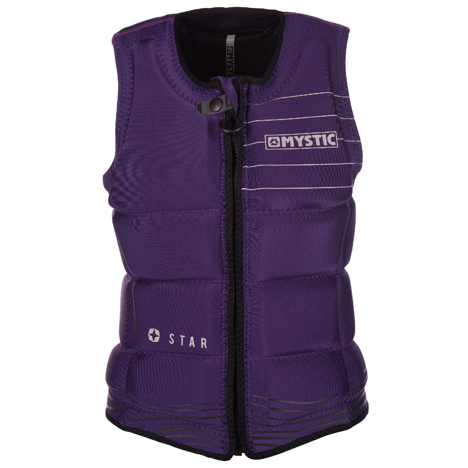 Mystic Womens Star Front-Zip Wake Impact Vest 2019 - Purple M by Mystic