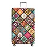 QEES スーツケースカバー 伸縮素材 花柄 キャリーカバー  ラゲッジカバー ファション