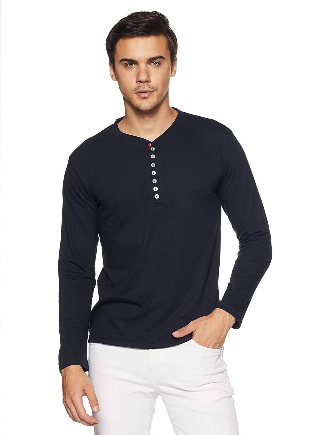 832a69103b TSX Men s Cotton Henley T-Shirt  Amazon.in  Clothing   Accessories