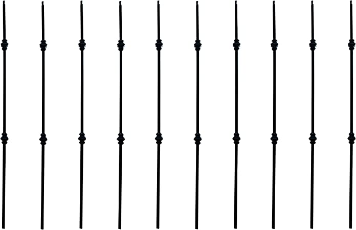 ALEKO BALUSTER011 Baluster Stair Spindle Supply Double Knuckle Design 1//2 Inch Black Powder Cast Iron Lot of 10