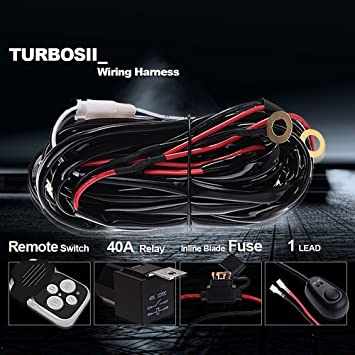 71uOhnCd IL._SY355_ amazon com turbo sii off road led light bar wireless remote Off-Road Light Wiring Harness at n-0.co