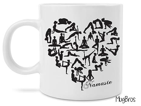 Amazon.com: Yoga Heart Namaste Coffee Mug: Kitchen & Dining