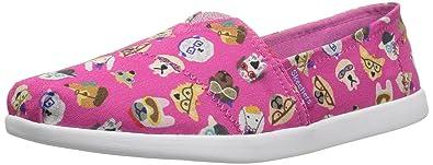 Kids Girls Solestice-Puppy Smarts Slip-on, Black/Multi, 3 M US Little Kid Skechers