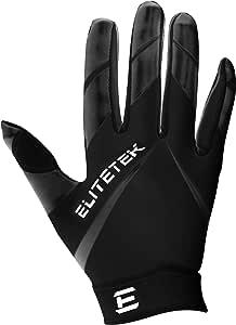 EliteTek RG-14 Super Tight Fitting Football Gloves - Youth and Adult Sizes - Easy Slip On Design No Wrist Strap