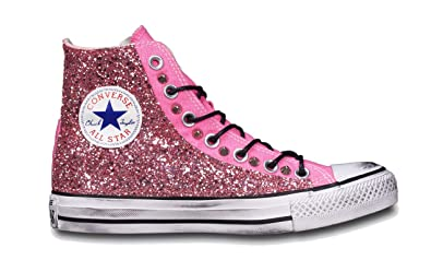 Mimanera Converse All Star, Damen Biker Boots, rosa - Pink with ...