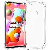 Shemax Funda case para Samsung M11 y Samsung galaxy A11 Case, Transparente de silicón suave protector Silicona TPU Carcasa De