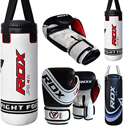 Punch Bag Set Heavy Filled Kids Boxing Kits Gloves MMA Pad for Junior Boxing Training Muay Thai Martial Arts Kit