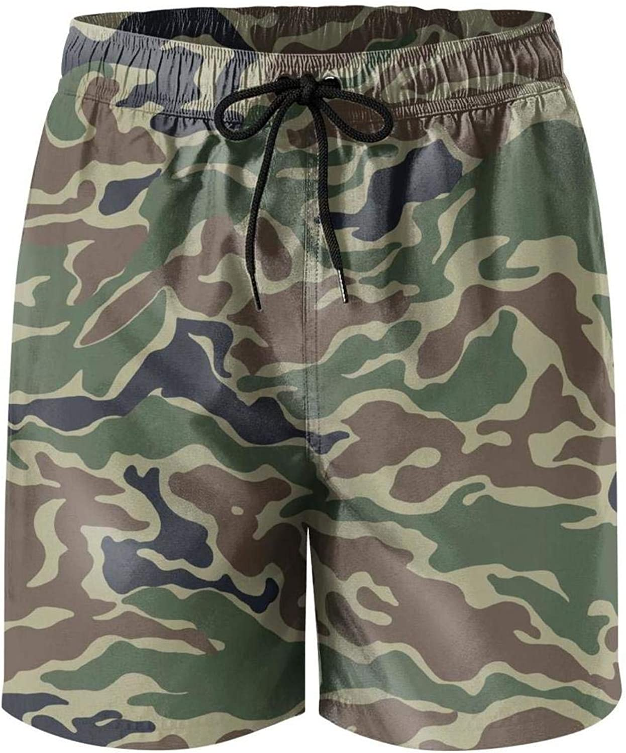 Swimming Trunks Quick Dry Outdoor Beach Shorts Finaif Men Fashion-Camouflage