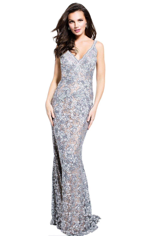 48c281d4afc1e Jovani Silver Ball Gown