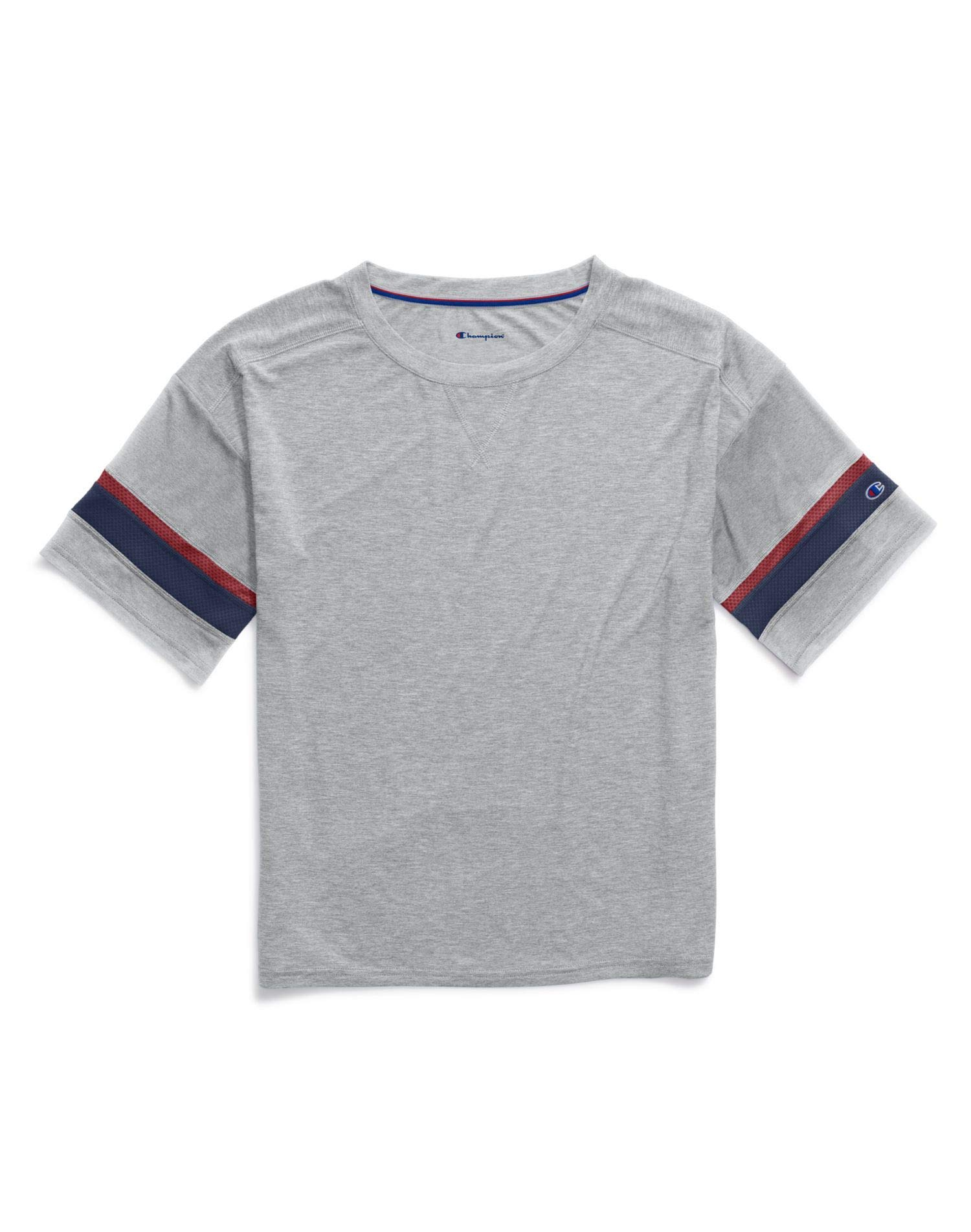 Champion Women's Gym Issue Football Tee, Oxford Gray Heather, X-Small